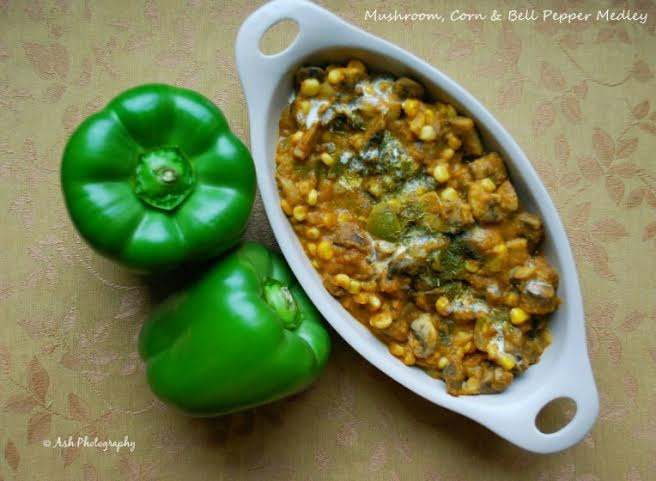 Green Bell Peppers and Mushrooms